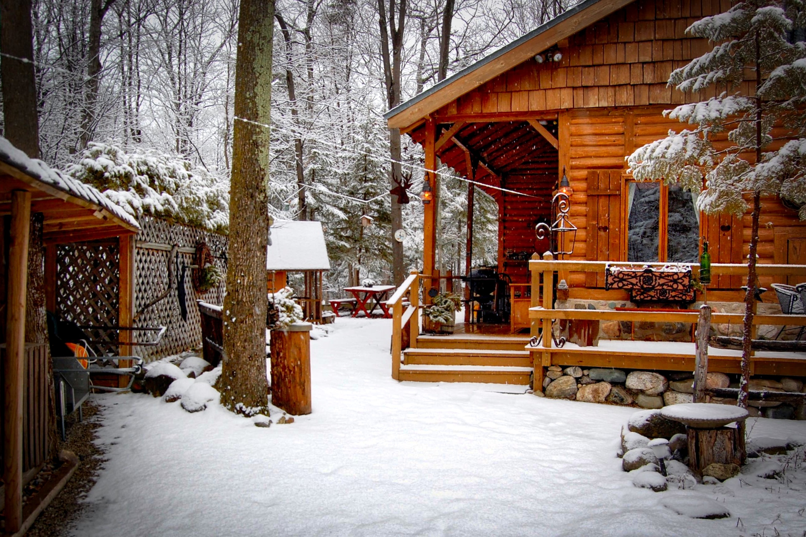 in the o rentals cabin vacation cabins gallery winter main hunting montana